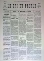 Cri Du Peuple (Le) N°47 du 17/04/1871 - Couverture - Format classique