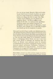 Agent de l'ombre ; mémoires 1941-1945 - 4ème de couverture - Format classique