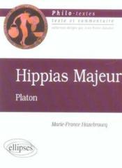 Hippias Majeur Platon - Couverture - Format classique