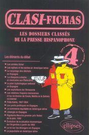Clasi-Fichas 4 Les Dossiers Classes De La Presse Hispanophone - Intérieur - Format classique