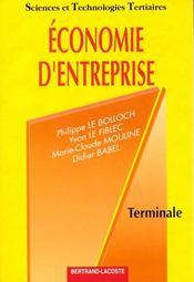 Economie d'entreprise ; livre de l'eleve - Intérieur - Format classique