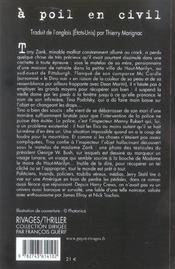 A Poil En Civil - 4ème de couverture - Format classique