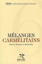 Mélanges carmelitains - Intérieur - Format classique