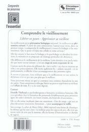 Comprendre Le Vieillissement - Liberer Ses Peurs, Apprivoise - 4ème de couverture - Format classique
