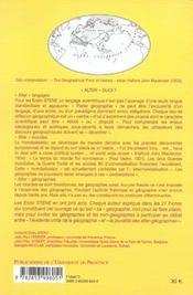 Alter Geographies - 4ème de couverture - Format classique