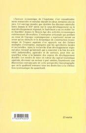 Nouveaux regards sur l'histoire economique de l'aquitaine. l'entreprise au coeur du developpement - 4ème de couverture - Format classique