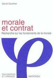 Morale et contrat ; recherche sur les fondements de la morale - Intérieur - Format classique
