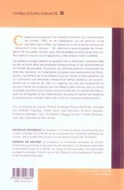 Sexualites Normes Et Therapies Approches Interdisciplinaires Des Pratiques Cliniques - 4ème de couverture - Format classique
