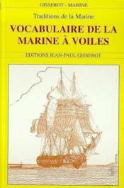 Vocabulaire de la marine a voile - Couverture - Format classique