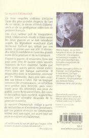 Le mystère chlomovitch - 4ème de couverture - Format classique