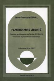 Flamboyante Liberte (Berdiaev) - Couverture - Format classique