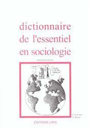 Dictionnaire De L'Essentiel En Sociologie - Intérieur - Format classique