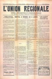 Union Regionale (L') N°1102 du 12/10/1939 - Couverture - Format classique