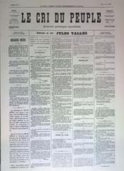 Cri Du Peuple (Le) N°48 du 18/04/1871 - Couverture - Format classique