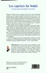 Caprices du nobel ; à la découverte du diabète et du stress - Couverture - Format classique