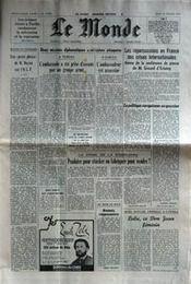 Monde (Le) N°10589 du 15/02/1979 - Couverture - Format classique
