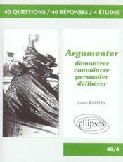 Argumenter Demontrer Convaincre Persuader Deliberer - Intérieur - Format classique