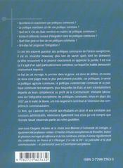 Politiques Communes De L'Union Europeenne - 4ème de couverture - Format classique