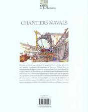 Chantiers navals - 4ème de couverture - Format classique