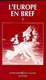 L'Europe En Bref ; Coffret Vol.2 - Couverture - Format classique