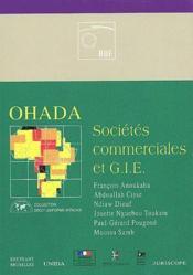 OHADA ; sociétés commerciales et G.I.E. - Couverture - Format classique