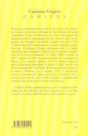 Les Cahiers Du Capitaine Coignet - 4ème de couverture - Format classique