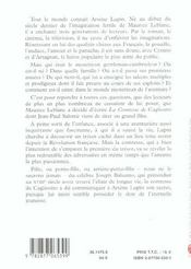 Arsene Lupin - 4ème de couverture - Format classique