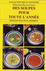 Des soupes pour toute l'année - Couverture - Format classique