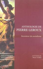 Anthologie de Pierre Leroux ; inventeur du socialisme - Intérieur - Format classique