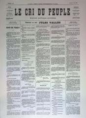 Cri Du Peuple (Le) N°49 du 19/04/1871 - Couverture - Format classique