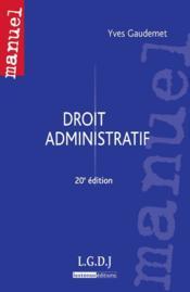 Droit administratif (20e édition) - Couverture - Format classique