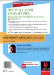 Optimisez votre visibilité Web ; du référencement naturel (SEO) à l'Inbound marketing - 4ème de couverture - Format classique
