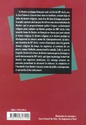 Le Theatre Francais Du Moyen Age Au Xvie Siecle - 4ème de couverture - Format classique