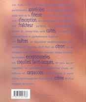 Huitres et saint-jacques - 4ème de couverture - Format classique