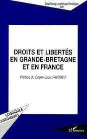 Droits et libertés en Grande-Bretagne et en France - Couverture - Format classique