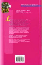 La Production Vegetale Tome 1 : Les Composantes De La Production (3. Ed.) - 4ème de couverture - Format classique