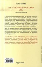 Les Aventuriers De La Mer T.9 ; Les Marches Du Trone - 4ème de couverture - Format classique