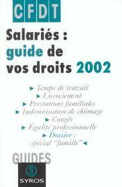 Salaries Guide De Vos Droits ; Edition 2002 - Intérieur - Format classique