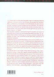 Fetichisme Chez Marx - 4ème de couverture - Format classique