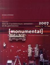 Monumental ; Cité De L'Architecture Et Du Patrimoine - Intérieur - Format classique