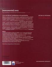 Monumental ; Cité De L'Architecture Et Du Patrimoine - 4ème de couverture - Format classique