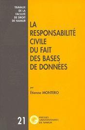 Responsabilité civile du fait des bases de données - Couverture - Format classique