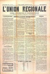 Union Regionale (L') N°1105 du 02/11/1939 - Couverture - Format classique