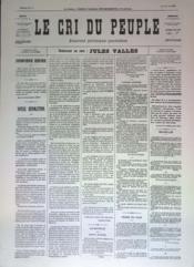Cri Du Peuple (Le) N°50 du 20/04/1871 - Couverture - Format classique