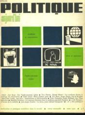 POLITIQUE AUJOURD'HUI, MARS 1970. REVUE MENSUELLE, RECHERCHES ET PRATIQUES SOCIALISTES DANS LE MONDE. SYNDICATS ET CONCERTATION / DROIT ET MARXISME / L'APRES AUTOMNE ITALIEN, aLBERTO ASOR ROSA / ... - Couverture - Format classique