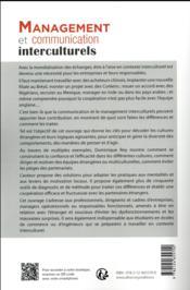 Management et communication interculturels - 4ème de couverture - Format classique