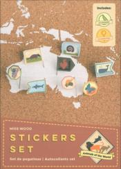 Vente livre :  Stickers set ; animaux du monde  - Collectif