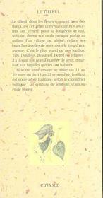 Le Tilleul - 4ème de couverture - Format classique