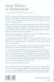 Thérèse de l'enfant-Jésus, le pur amour est-il dans mon coeur ? - 4ème de couverture - Format classique