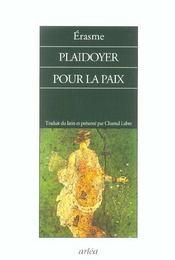 Plaidoyer Pour La Paix - Intérieur - Format classique